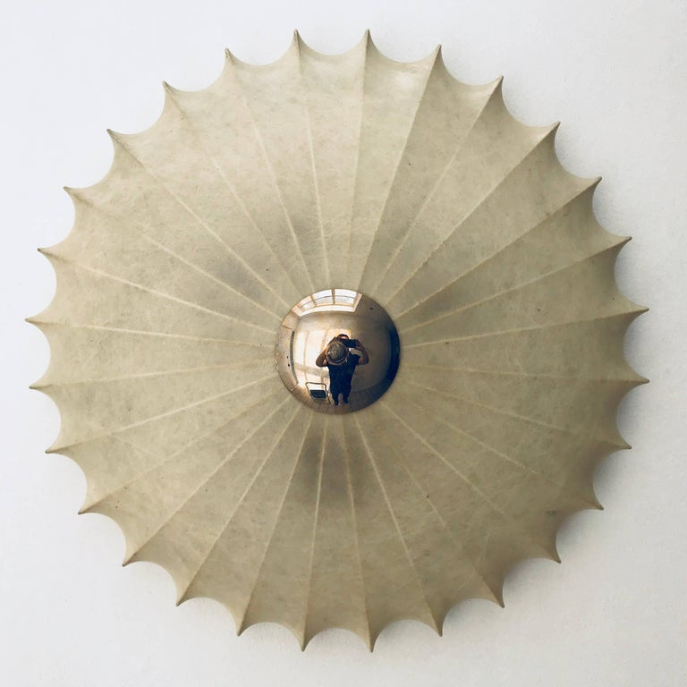Achille Castiglioni Italian Flush Ceiling Light, 1960s For Sale 4