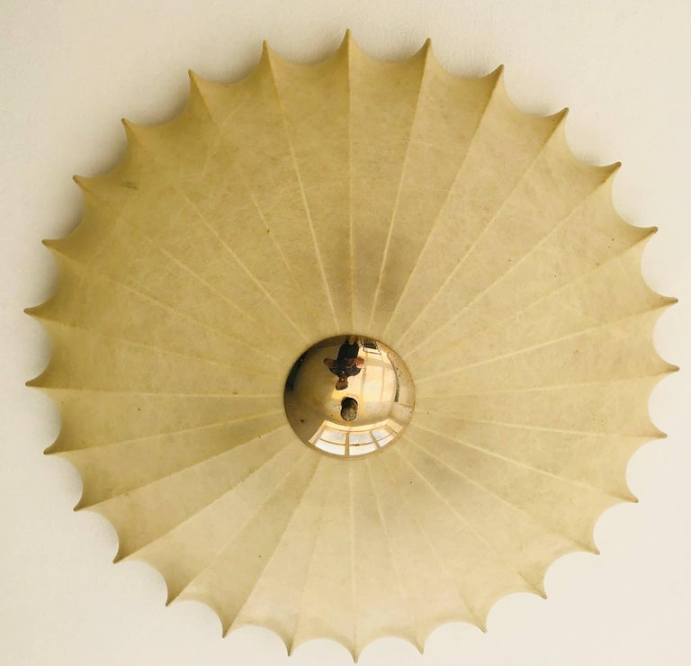 Achille Castiglioni Italian Flush Ceiling Light, 1960s In Excellent Condition For Sale In New York, NY