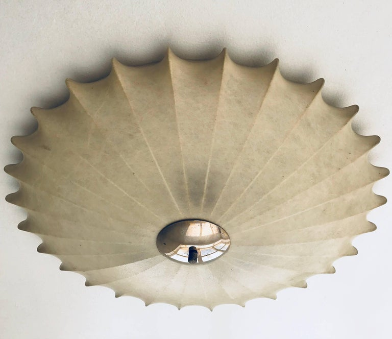 Mid-20th Century Achille Castiglioni Italian Flush Ceiling Light, 1960s For Sale