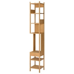 Achille Castiglioni 'Lungangolo' Wood Shelving Unit