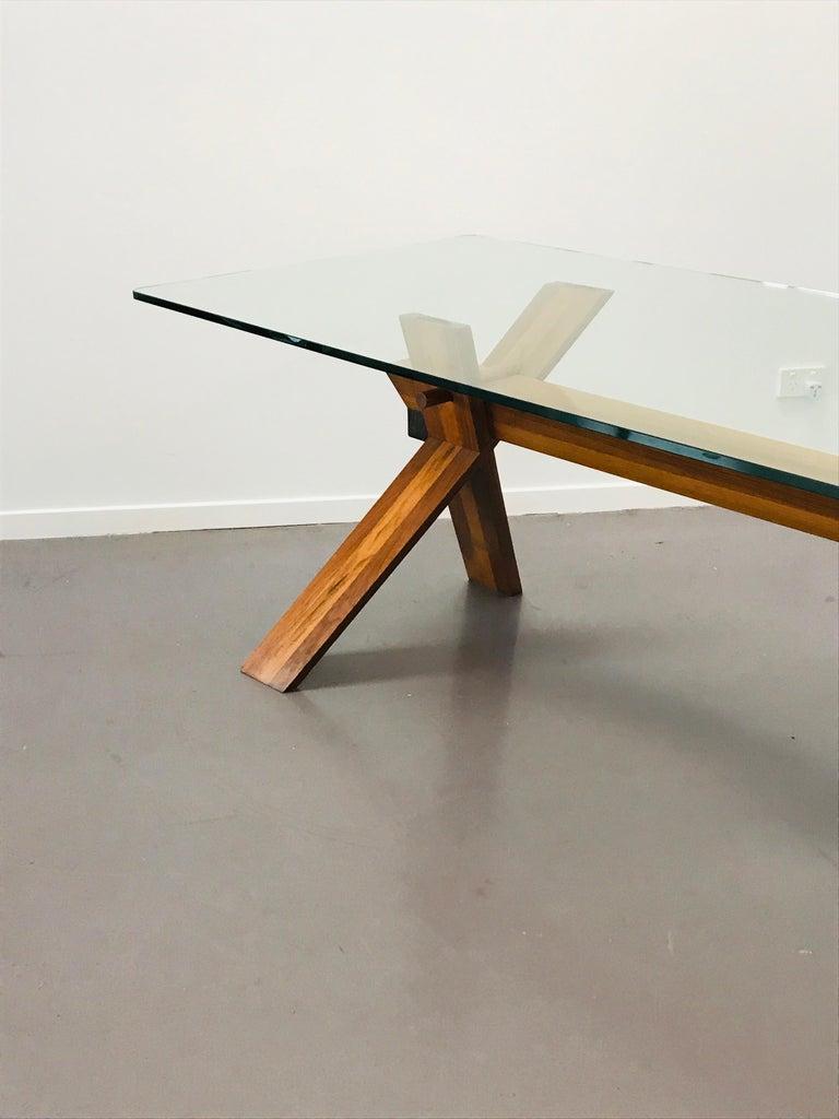 Piana Table Designed by Alfredo Simonit & Giorgio del Piero for Bross For Sale 4