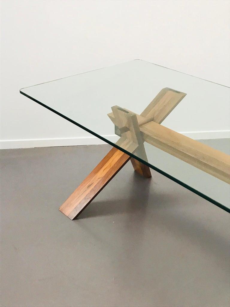 Piana Table Designed by Alfredo Simonit & Giorgio del Piero for Bross For Sale 5