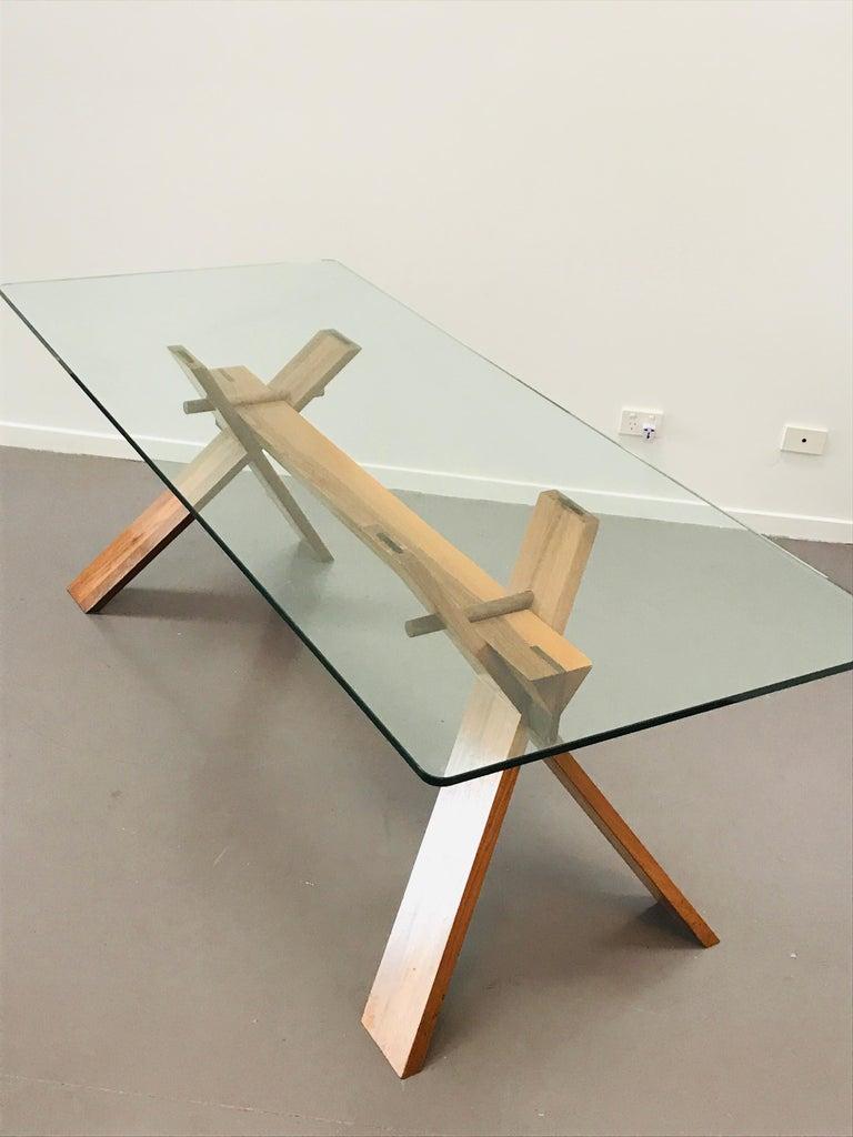 Piana Table Designed by Alfredo Simonit & Giorgio del Piero for Bross For Sale 6