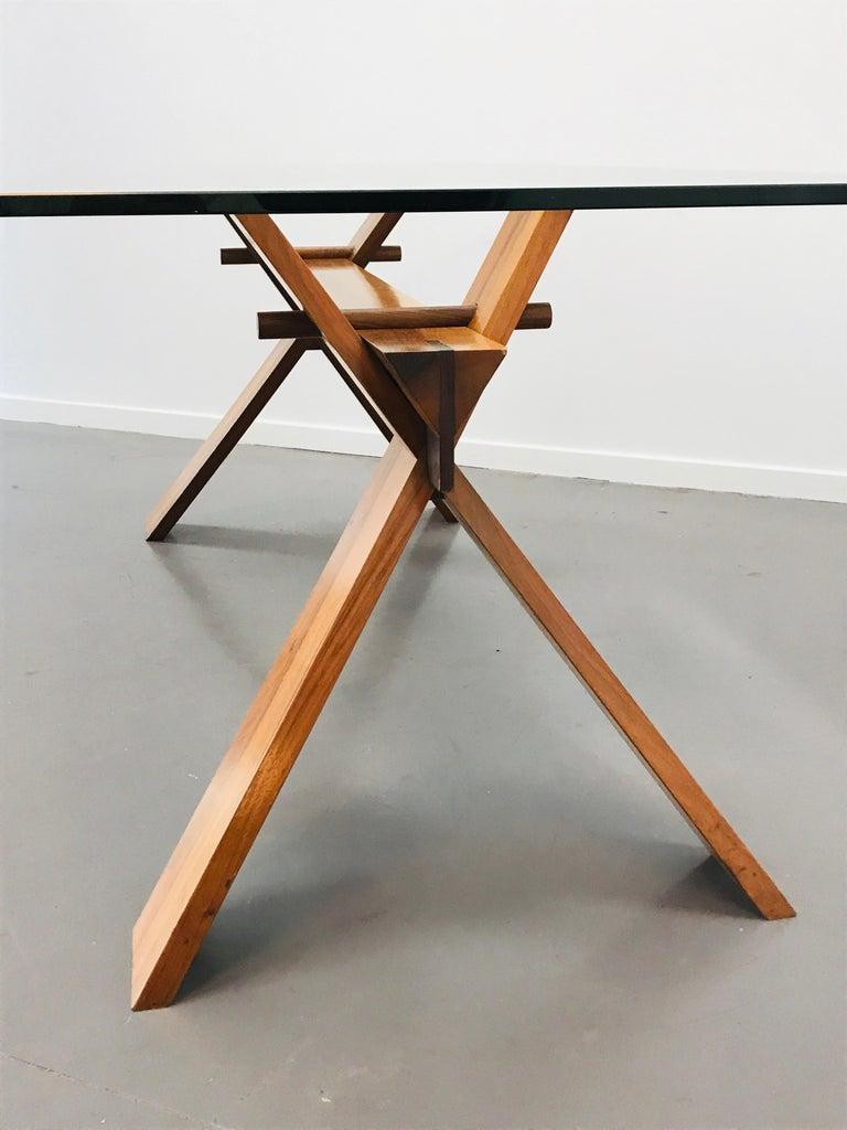 Mid-Century Modern Piana Table Designed by Alfredo Simonit & Giorgio del Piero for Bross For Sale