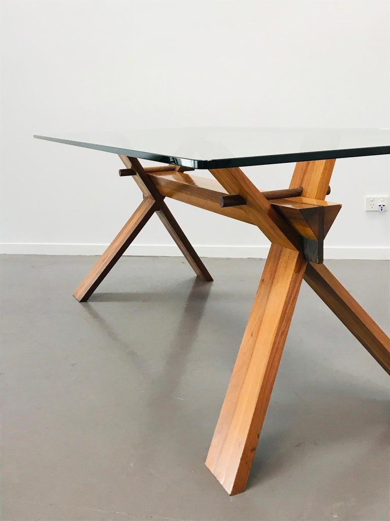 Italian Piana Table Designed by Alfredo Simonit & Giorgio del Piero for Bross For Sale