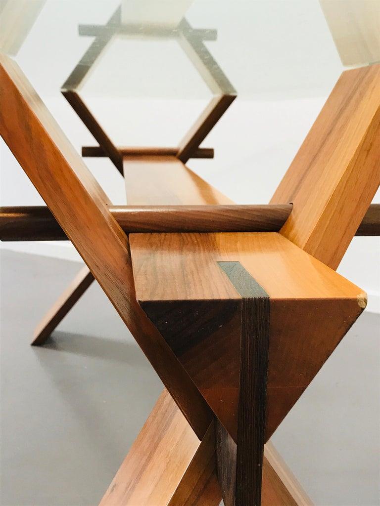 Late 20th Century Piana Table Designed by Alfredo Simonit & Giorgio del Piero for Bross For Sale