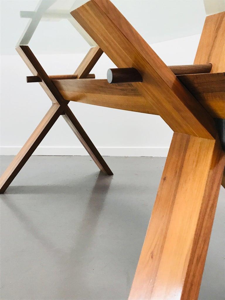 Crystal Piana Table Designed by Alfredo Simonit & Giorgio del Piero for Bross For Sale