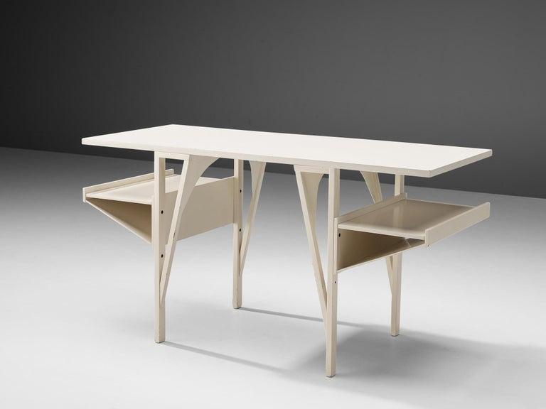 Post-Modern Achille Castiglioni & Paolo Ferrari Desk 'Quark' in Wood For Sale