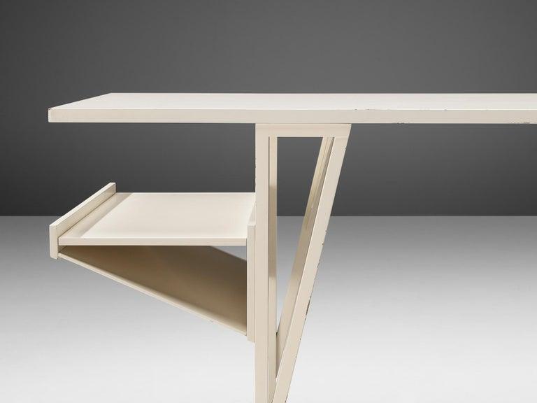 Italian Achille Castiglioni & Paolo Ferrari Desk 'Quark' in Wood For Sale