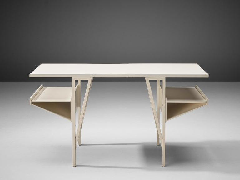 Achille Castiglioni & Paolo Ferrari Desk 'Quark' in Wood In Good Condition For Sale In Waalwijk, NL