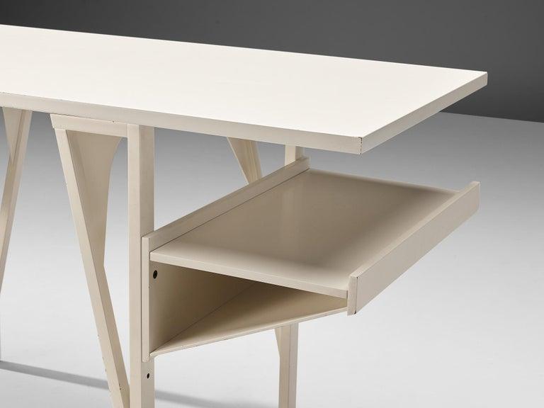 Late 20th Century Achille Castiglioni & Paolo Ferrari Desk 'Quark' in Wood For Sale