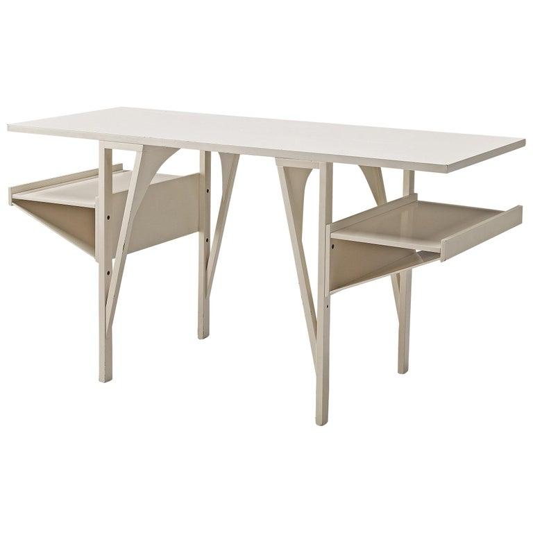 Achille Castiglioni & Paolo Ferrari Desk 'Quark' in Wood For Sale