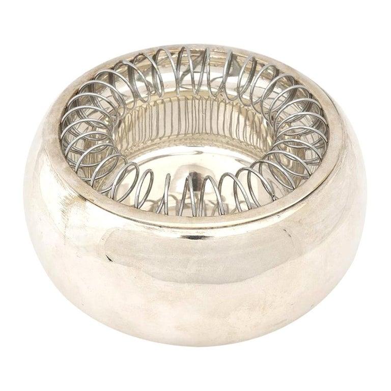 """Achille Castiglioni Silver Plated """"Spirale"""" Ashtray for Bacci, 1971 For Sale"""