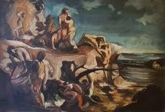 Circle of Othon Friesz, Le Naufrage, Large Scale Work on Canvas