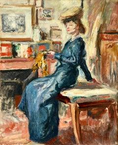 Lilette - Post Impressionist Fauvist Oil, Woman in Interior by Othon Friesz
