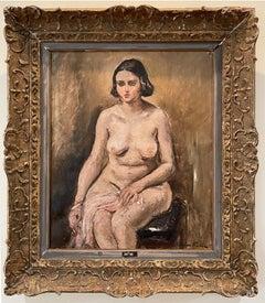 Modele nu assis - Seated nude model