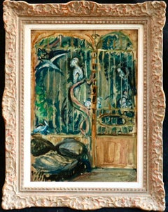 The Aviary - 20th Century Post Impressionist Oil, Exotic Birds by Othon Friesz