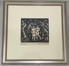 "Achille-Emile Othon Friesz ""Adam & Eve in Paradise"" Woodcut C.1910"