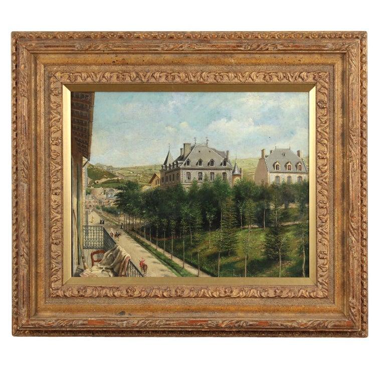 "Achille Ernest Mouret '19th Century' French, ""Villa Beausejour"", 1840-1860 For Sale"