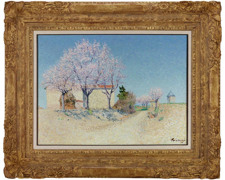 Almond Trees in Spring - Painting by Achille Laugé