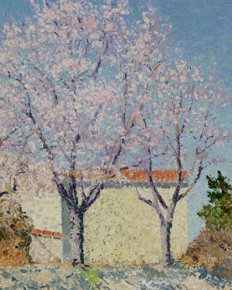Almond Trees in Spring - Post-Impressionist Painting by Achille Laugé