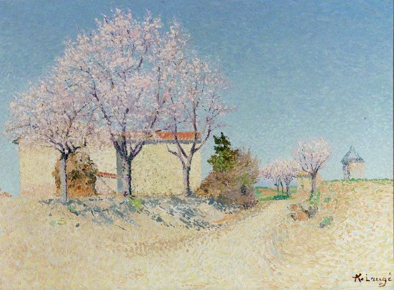 Achille Laugé Landscape Painting - Almond Trees in Spring