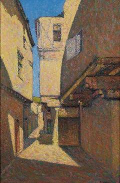 Rue à Alet-les-Bains - Achille Laugé, neo-impressionist, french, painting, art