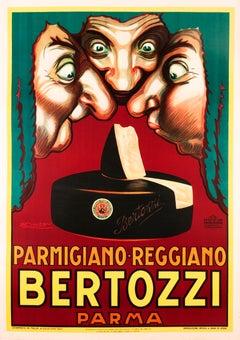 """Bertozzi Parmigiano-Reggiano"" Original Vintage Food Cheese Poster"