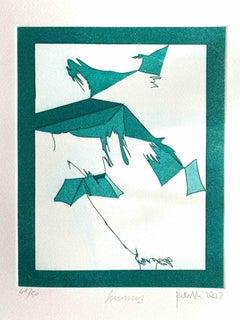 Mottetti - Original Etching by Achille Perilli - 2002