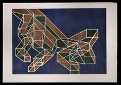 Ratio - Original Lithograph by Achille Perilli - 1970