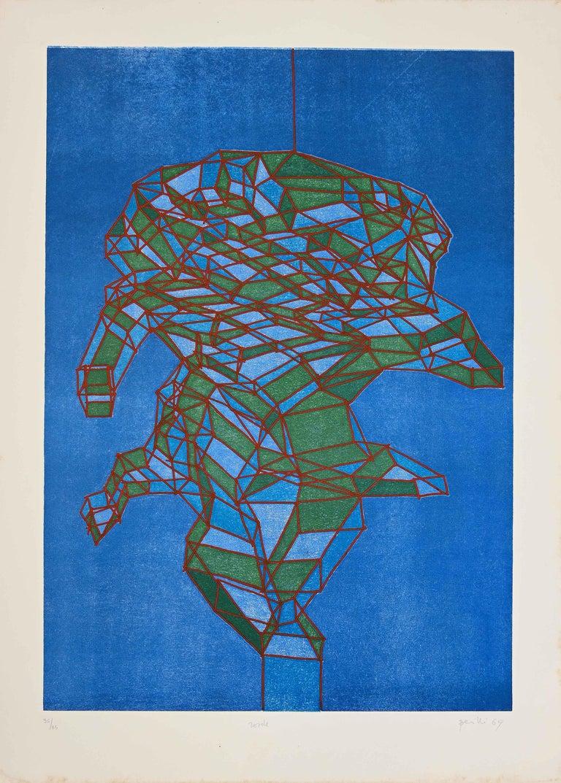 Achille Perilli Abstract Print - Rosole - Original Etching by A. Perilli - 1969