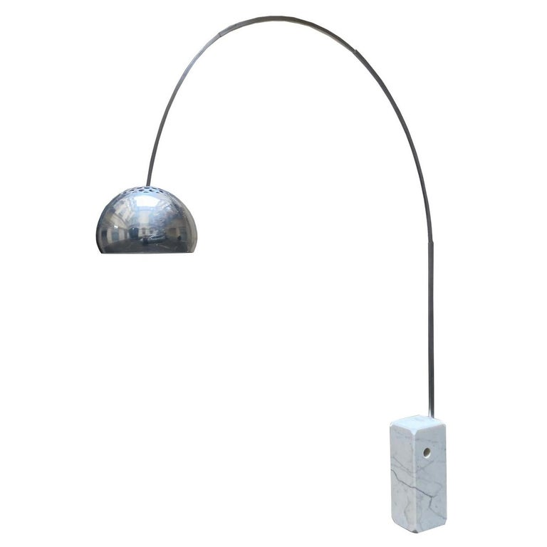 "Achille & Piergiacomo Castiglioni for Flos ""Arco"" Floor Lamp, Italy, 1960s For Sale"