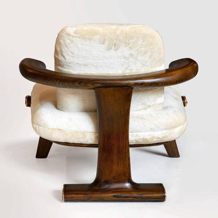 Italian Achille Salvagni, Amboseli, Contemporary Walnut Lounge Armchair, Italy, 2018 For Sale