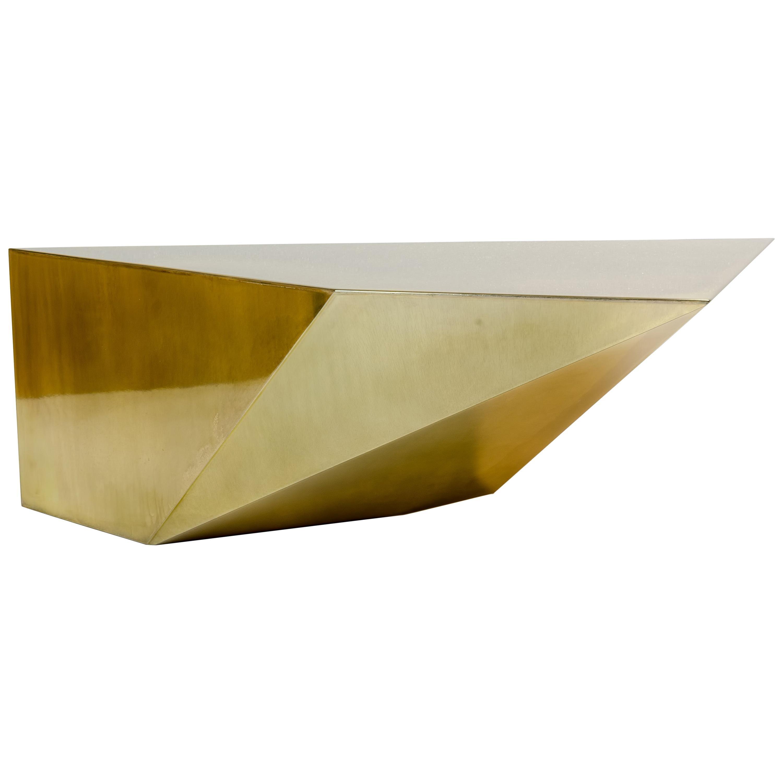 """Achille Salvagni """"Apollo Alpaca"""" Coffee Table, Alpacca Finish, Contemporary"""