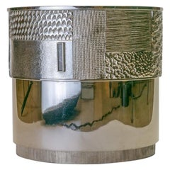 "Achille Salvagni ""Crono"" Champagne Cooler, Brass Nickel and Bronze, Contemporary"