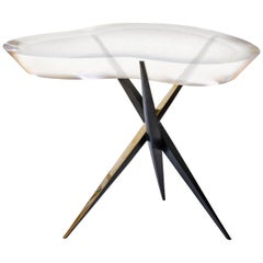 "Achille Salvagni, ""Drop Murano"" Side Table, Bronze, Murano Glass, Contemporary"
