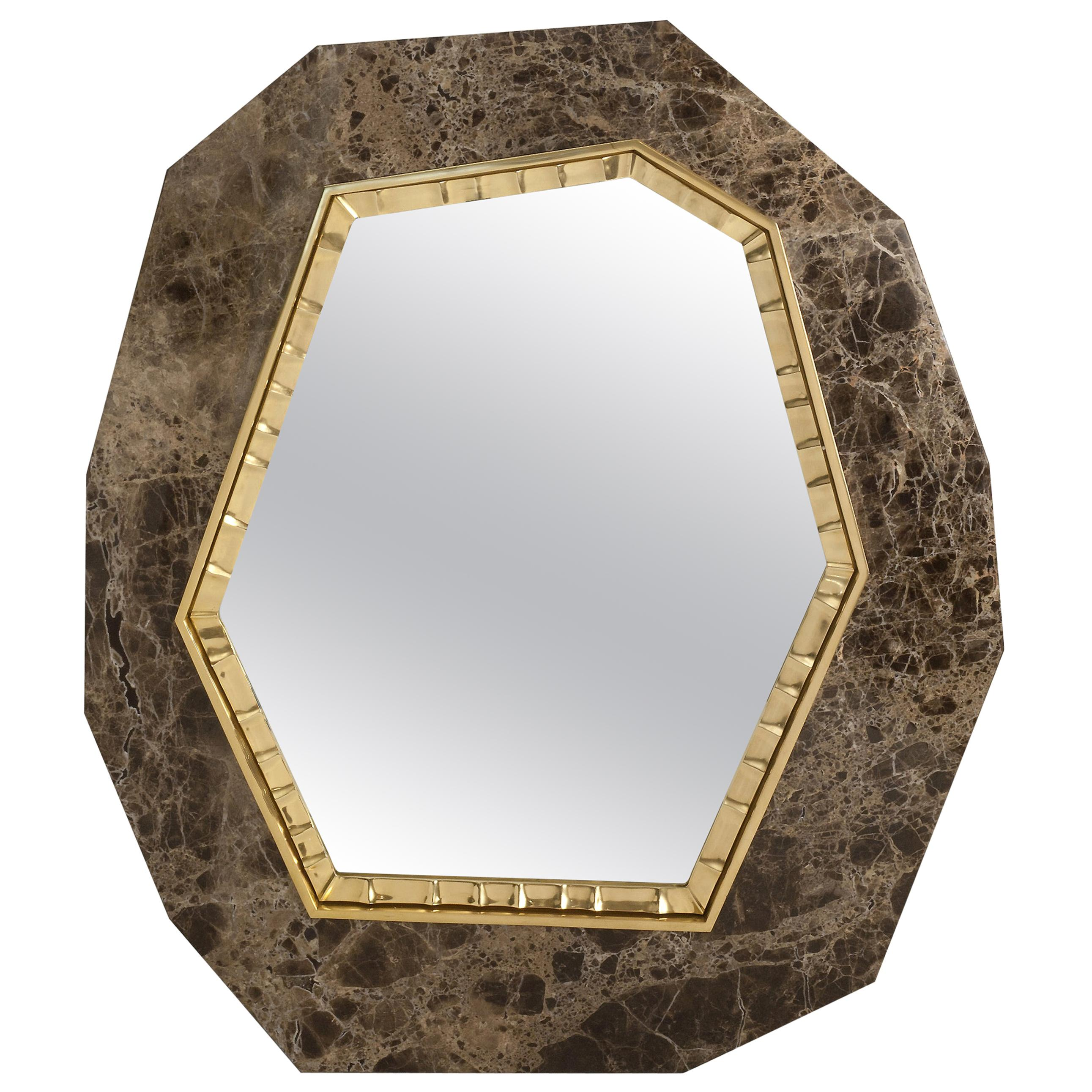 """Achille Salvagni, """"Lucy,"""" Marble and Bronze Mirror, Italy, 2013"""