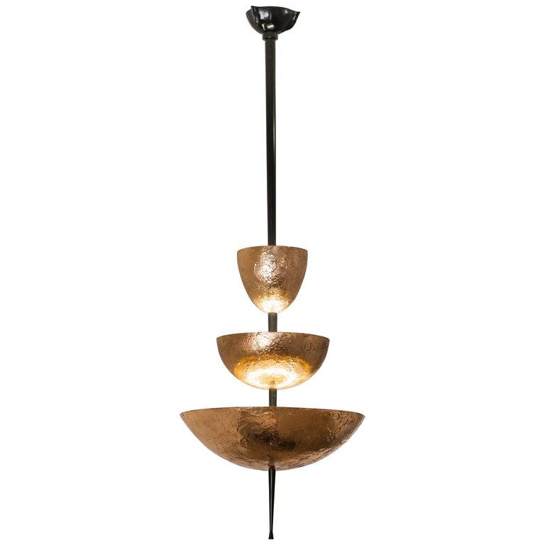 "Achille Salvagni, ""Simposio"" Chandelier, Natural Bronze Finish, Contemporary For Sale"