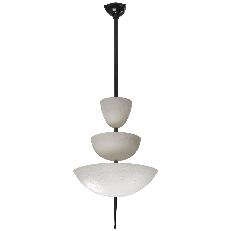 """Achille Salvagni, """"Simposio White"""" Chandelier, White Bronze Finish, Contemporary"""
