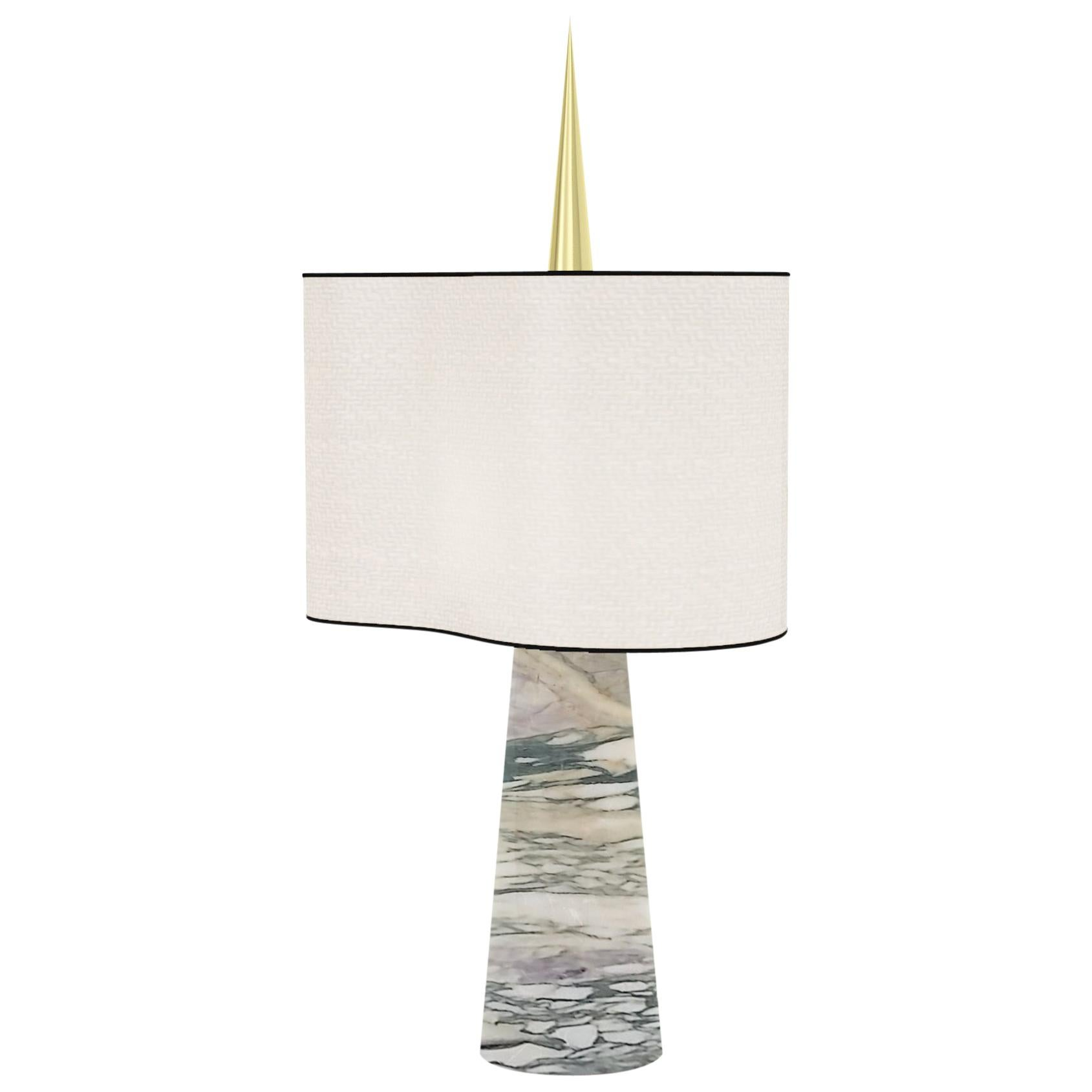 """Achille Salvagni """"Sting Marmo"""" Table Lamp, Marble and Brass, Contemporary"""