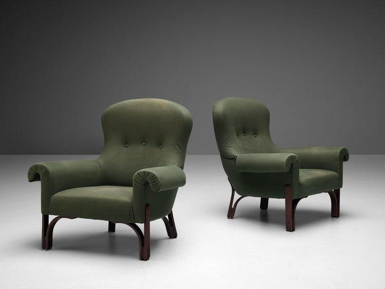 Achilli, Brigidini & Canella Pair of 'Quadrifoglio' Lounge Chairs For Sale 4