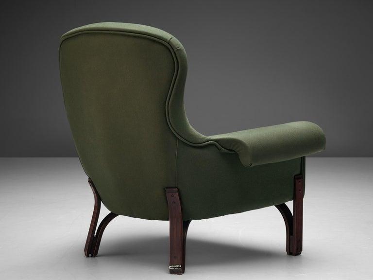 Mid-Century Modern Achilli, Brigidini & Canella Pair of 'Quadrifoglio' Lounge Chairs For Sale