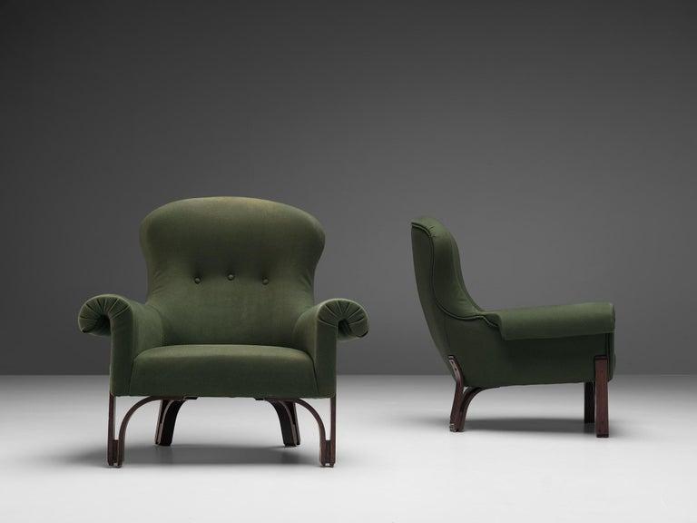 Italian Achilli, Brigidini & Canella Pair of 'Quadrifoglio' Lounge Chairs For Sale