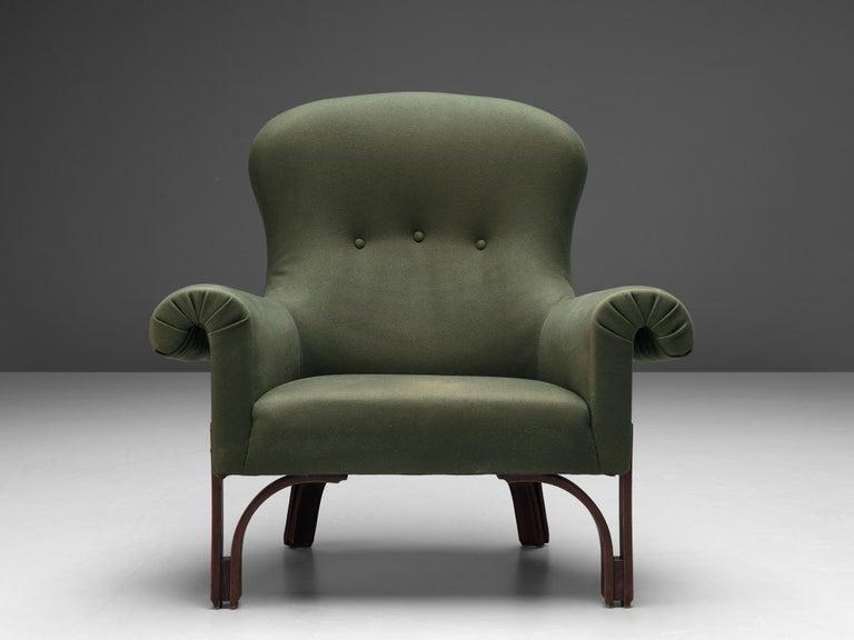 Achilli, Brigidini & Canella Pair of 'Quadrifoglio' Lounge Chairs In Good Condition For Sale In Waalwijk, NL