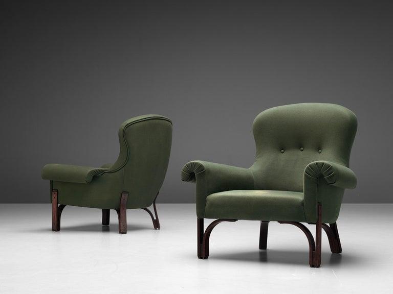 Mid-20th Century Achilli, Brigidini & Canella Pair of 'Quadrifoglio' Lounge Chairs For Sale