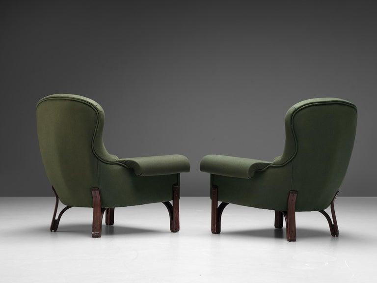 Achilli, Brigidini & Canella Pair of 'Quadrifoglio' Lounge Chairs For Sale 1