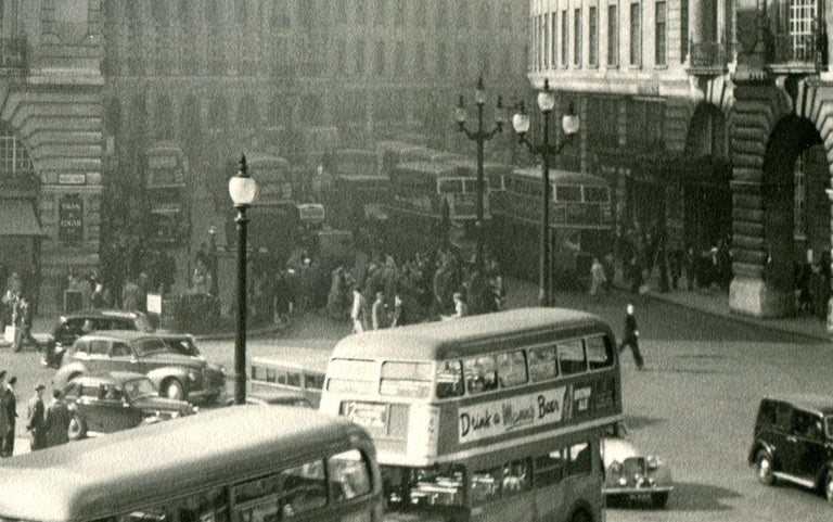 Piccadilly Circus - Modern Photograph by Ack (Jock) Ware
