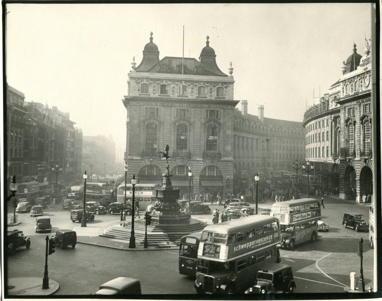 Ack (Jock) Ware Black and White Photograph - Piccadilly Circus