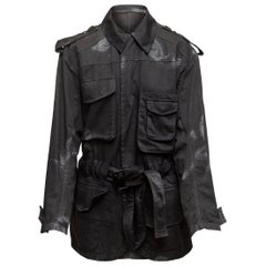 Acne Studios Black Distressed Utility Jacket
