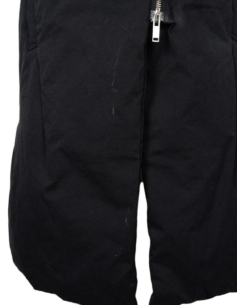 Acne Studios Black Down Puffer Long Vest Sz S For Sale At